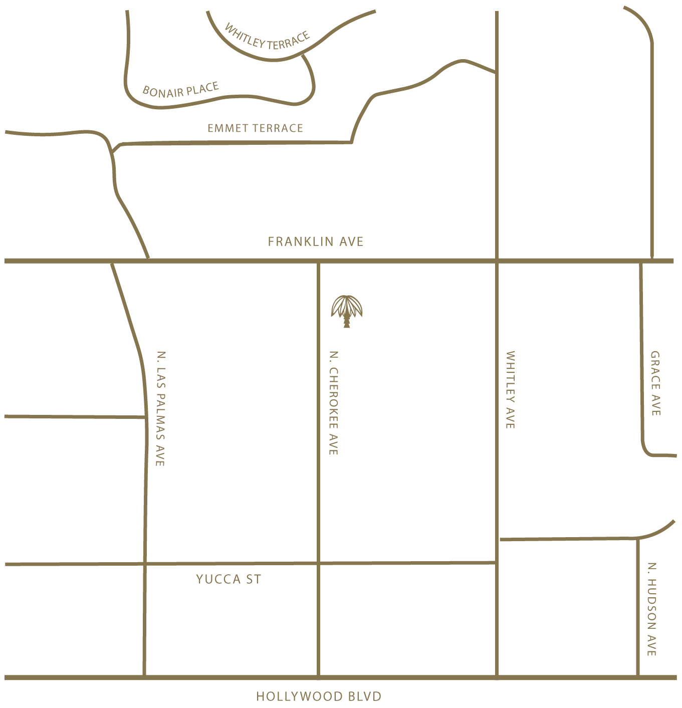 illustration of map of hollywood